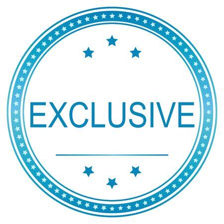 exclusive: Blue vector exclusive, sticker exclusive, illustration exclusive,