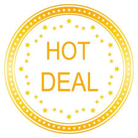 hot deals: Hot Deals  Vector Icon Design in ogange Illustration