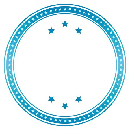 wax glossy: Vector blank seal in blue. Vector image. Illustration