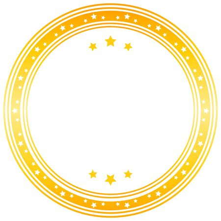 yellow vector: Vector blank seal in yellow. Vector image. Illustration