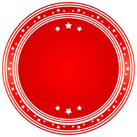 wax glossy: Vector blank seal in red. Vector image.