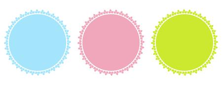 wax glossy: Vector blank seals, badges  and icons set