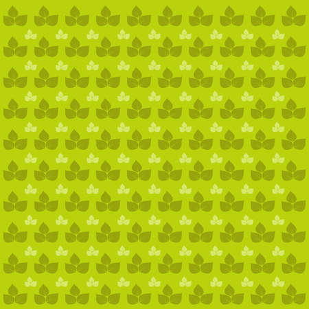 Green leaves pattern. Vector image with leaf.