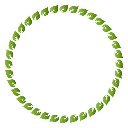rimmed: Fresh green leaves vector border and frame