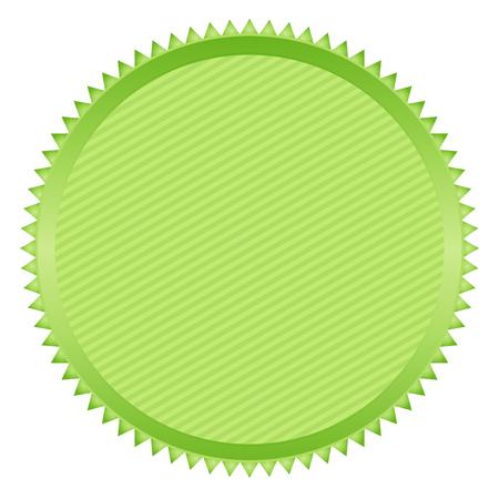 wax glossy: Blank seal in green tones. Vector image.