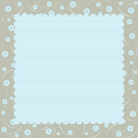 blue frame: Greeting wedding invitation card illustration set. Flower vector design. Illustration