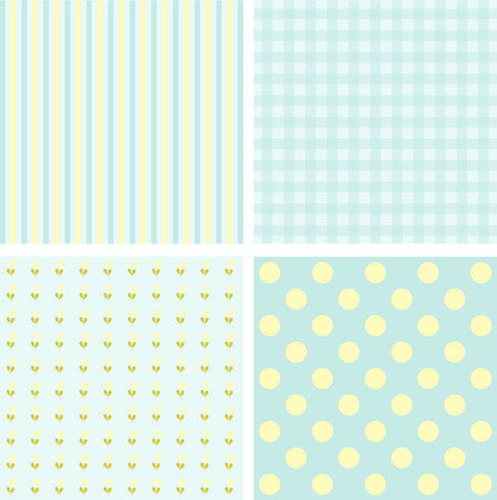 baby blue: Cute Patterns and backgrounds in blue tones. Vector image. Illustration