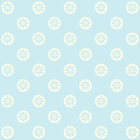 gently: Pattern with cute flowers in blue tones.