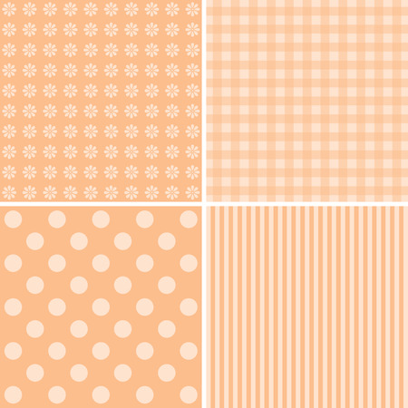 giftwrap: Vector set of 4 backgrounds. Great for scrapbook, baby shower, greeting cards.