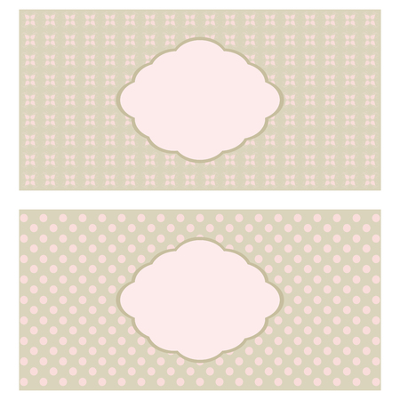 wed beauty: Set of floral greeting cards in pastel tones