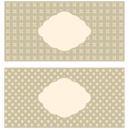 wed beauty: Set of floral greeting cards in pastel tones.