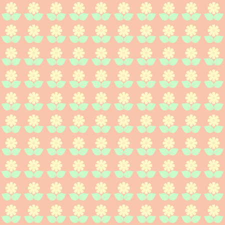 green day baby blue background: Cute floral pattern in pastel tones. vector.