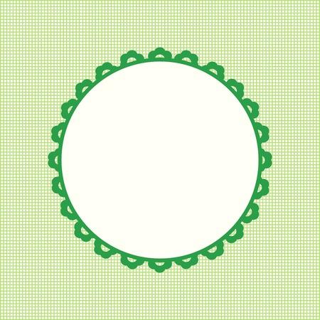 hand card: Happy Birthday card frame design Vector image