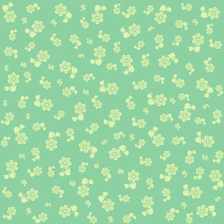 pale green: Abstract floral pattern in pale green tones