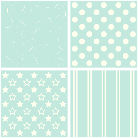fascia: vector set of four different retro pattern