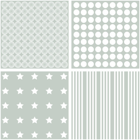 giftwrap: Vector set of 4 background patterns in pale grey.