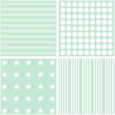 giftwrap: Cute vector set of 4 retro background patterns Illustration