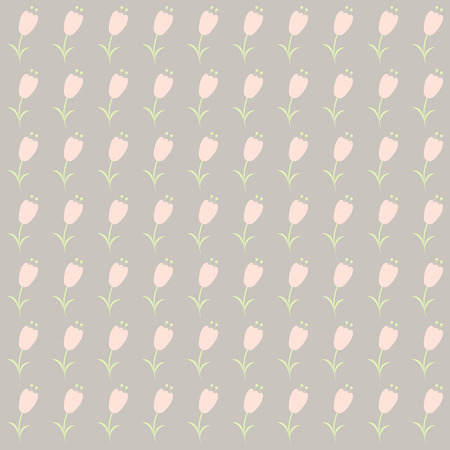 gently: Floral vector background with flowers in pastel tones