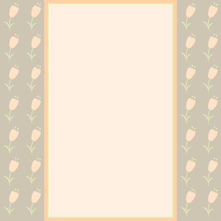 wed beauty: Vintage floral card in pastel colors. Vector.