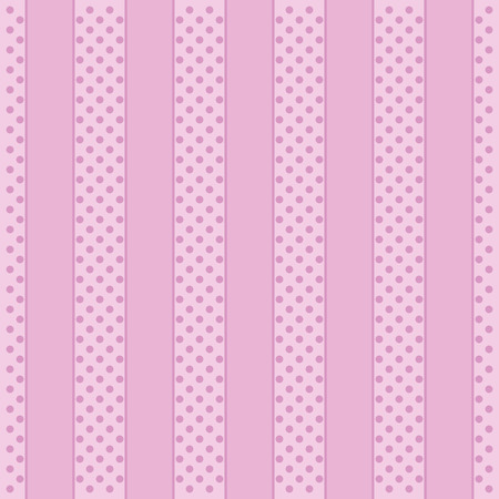 tilling: Polka Dot Pattern, abstract pink Background. Vector
