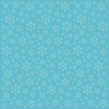 de focused: green background with snowflakes, elegant blue illustration