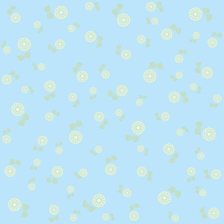 tiny: Tiny cute flower pattern background in blue tones
