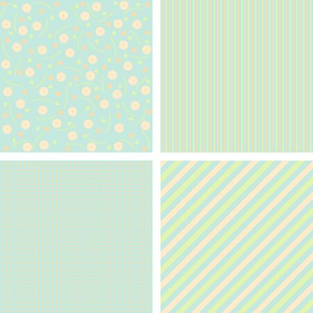 charming: Set of charming pattens in pastel tones