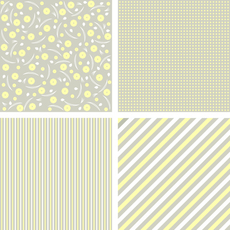 mother s: Collection of 4 backgrounds in delicate colors. Vector illustration