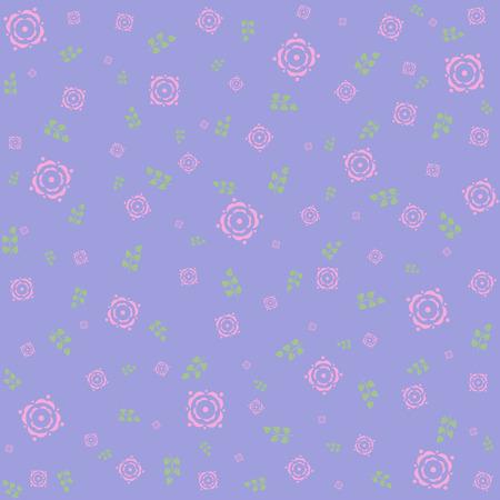 tea rose: Ditsy Tea Rose Repeat Wallpaper. Vector image.