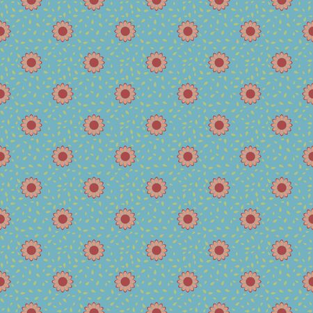 Elegance Seamless wallpaper pattern with blue background