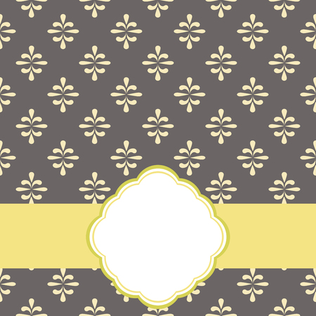 Vintage floral frame. Great for greeting cards and invitations. 向量圖像