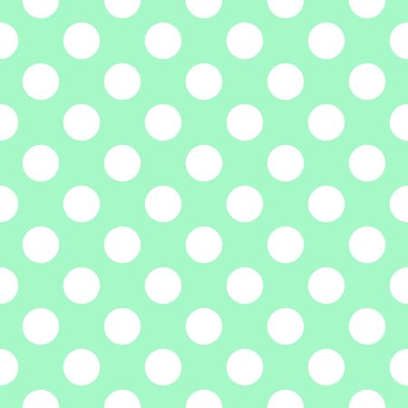 spot the difference: Green Polka Dot Pattern. image in green and white. Stock Photo