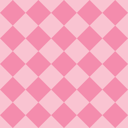 Pastel pink fabric diamond seamless pattern background Ilustração