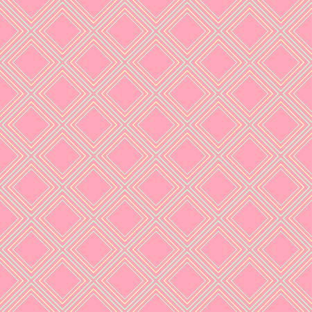 wreathe: Vector seamless pattern. Geometric ornament with pink rhombuses Illustration