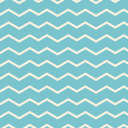 two tone: Retro zigzag pattern in pale blue tones Illustration