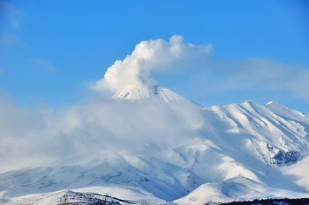 active volcano: The active volcano Mount on the island in Italy