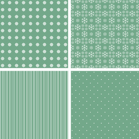 stria: Collection of green patterns. Vector baby illustration.