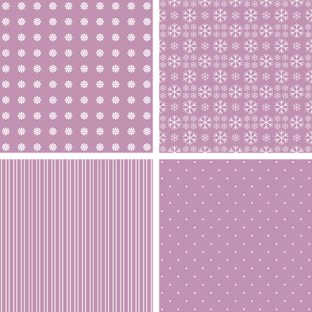 stria: Collection pink patterns. illustration in pale pink. Stock Photo