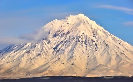 kamchatka: Winter volcano on the Kamchatka Peninsula, Russia.
