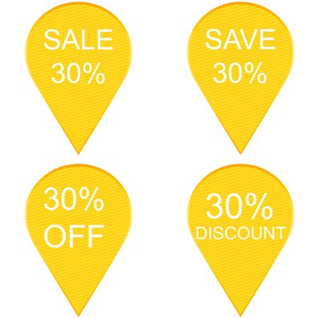 Collection of sale 20 percent discount labels