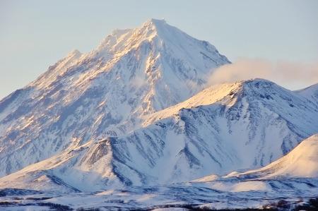 Beautiful volcanic landscape: Group of Volcanoes, Kamchatka Region, Russian Far East, Eurasia