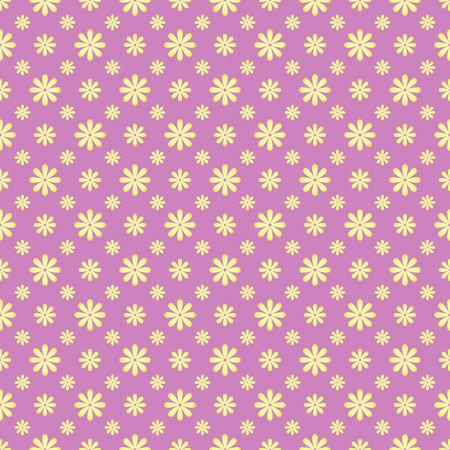 グランジ テクスチャと小さな花を持つシームレス パターン  イラスト・ベクター素材