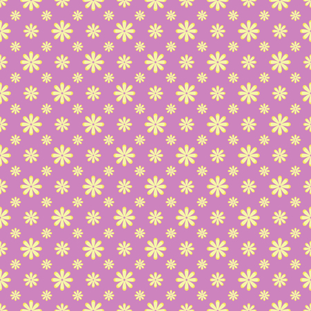 Seamless pattern with small flowers with grange texture Иллюстрация