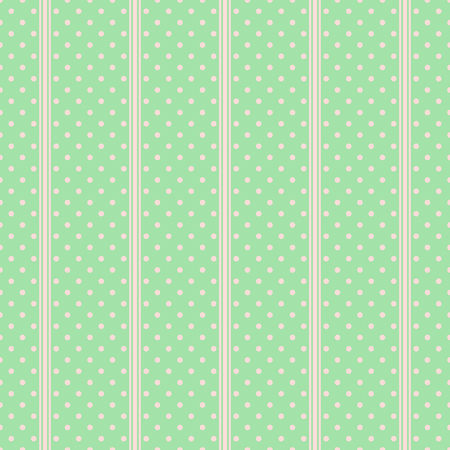 Pattern with tile green polka dots on pastel.
