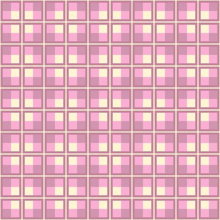 fab: Pink Plaid Pattern Design. Vector image.