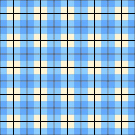 gingham: Pastel blue plaid gingham checkered background. Illustration
