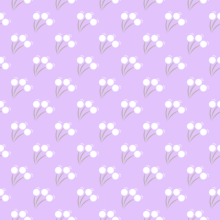 Seamless floral pattern with tiny flowers. Vector. Illustration