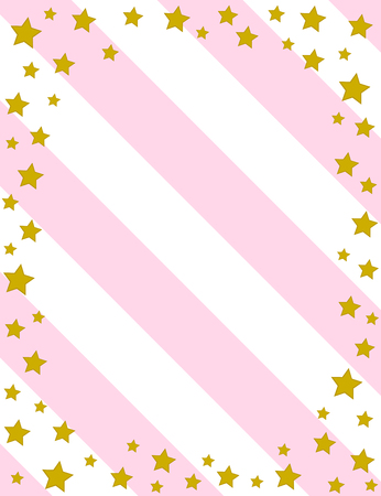 Retro greeting card with stars. Vector illustration.