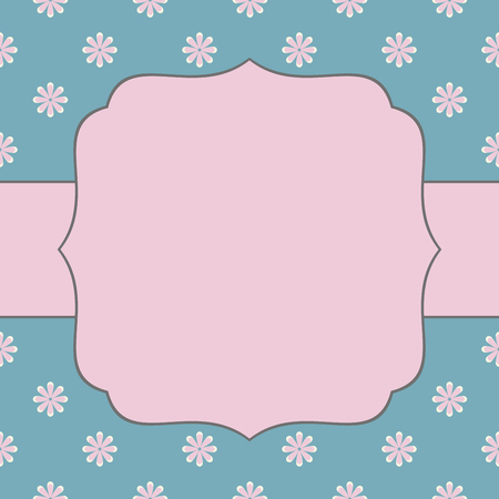 Vintage vector card template. Can be used for Save The Date, baby shower, mothers day, valentines day, birthday cards, invitations.