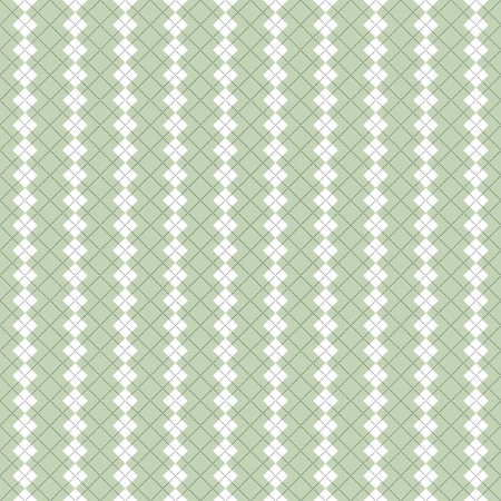 Seamless argyle pattern in pale green and white. Illustration